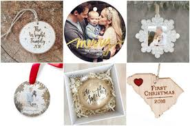 beautiful customized keepsake newlywed christmas ornaments to