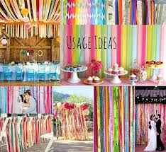 tissue streamers cool streamer decorations bleeding crepe paper crepe paper