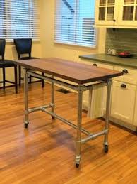rolling kitchen island table rolling kitchen island constructed from pipe kee kl pipe