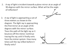 what is a ray of light 14 2 flat mirrors distinguish between specular and diffuse
