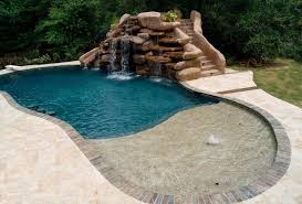 waterfalls for inground pools small inground pool with rock waterfall pools for home