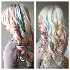pink highlighted hair over 50 pastel pink blue highlights hair coloring do that hair