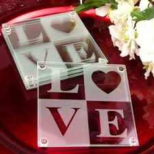 coaster favors glass wedding coaster favors set of 4 glass
