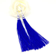 thread earrings western fashion retro style tassel cotton rope silk thread