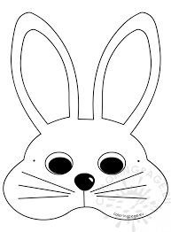 bunny mask white easter bunny mask craft ideas coloring page