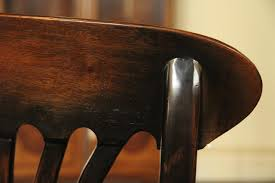 Solid Walnut Dining Chairs by Black Country Chairs Solid Walnut Ebony Finish Kitchen Dining