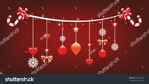 christmas ornaments hanging cute christmas ornaments stock vector