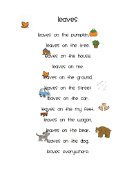 leaves pdf kindergarten klassenzimmer pinterest poems