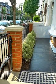 front garden brick wall designs remarkable paving for front