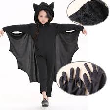 2017 new cute bat costume kids boy black zipper jumpsuit