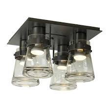 Semi Flush Ceiling Lights Erlenmeyer 4 Light Semi Flush Ceiling Light By Hubbardton Forge
