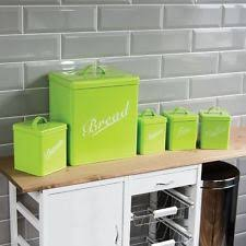 lime green kitchen canisters kitchen canisters jars ebay
