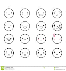 doodle emoticon emoticons doodle 2 stock vector image of doodled 84204649
