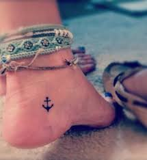 cool small anchor tattoos on foot new tattoo designs august 2016