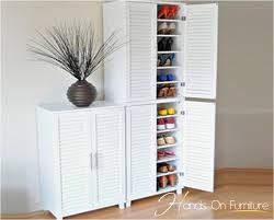 White Shoe Storage Cabinet New White Louvre Door Pairs Shoe Storage Cabinet Rack Cupboard