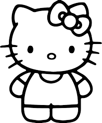 simple kitty coloring wecoloringpage