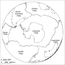 Plate Boundaries Map Antarcticplatebw Gif