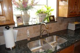 Granite Tile Backsplash by Verde Butterfly Granite Kitchen Traditional With Granite