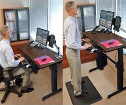 Standing To Sitting Desk Standing Sitting Desks Adjustable Lv Condo