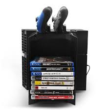 charging station organizer ps4 stand controller charger game storage organizer vertical