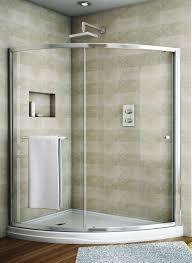 Curved Shower Doors Fleurco Banyo Amalfi Slice Curved Sliding Frameless Shower Door
