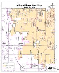 Il Map Homer Glen With Major Streets Homer Glen Il Official Website