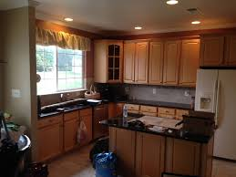 kitchen cabinet tile on kitchen countertop dark cabinets red