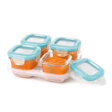 Baby Storage Oxo Tot Glass Baby Blocks Freezer Storage Containers 120ml Aqua
