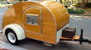 Teardrop Camper With Bathroom Wood Sided Wheeled Cabin Channels Pop Up Teardrop And Camper