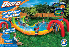 amazon com banzai splash zone water park outdoor backyard summer