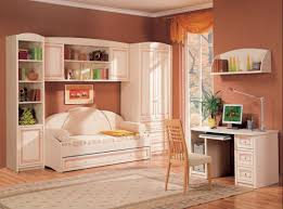 Sofa Bed For Bedroom by Cool Teenage Bedroom Ideas With Orange Painting Wall Plus Sofa Bed