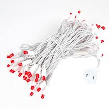 white wire wide angle red 50 bulb led christmas lights sets