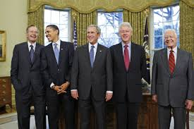 first five presidents five former u s presidents appearing at texas hurricane relief