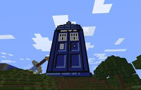 doctor who tardis pixel art minecraft project