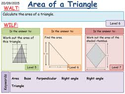 ks3 area of a triangle by fintansgirl teaching resources tes