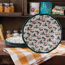 Corelle Plates Walmart The Pioneer Woman Fall Flowers Salad Plate Set 4 Pack Walmart Com
