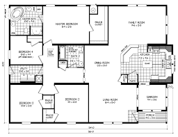 4 Bedroom 2 Bath Mobile Homes Triple Wide Mobile Home Floor Plans Russell From Clayton Homes
