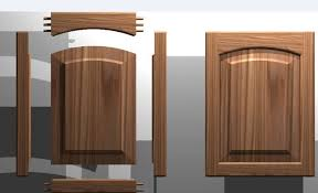 Cabinet Wood Doors Kitchen Cabinet Door Solid Wood Panel 3d Dwg Autocad Drawing
