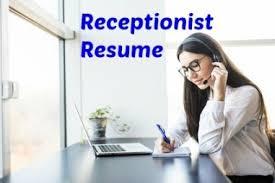 Resume Objective Receptionist Receptionist Resume Objective