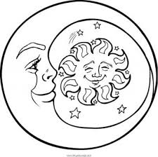 stylish beautiful sun moon coloring pages