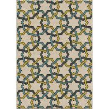 7 X 10 Outdoor Rug Multi Colored Outdoor Rugs Rugs The Home Depot