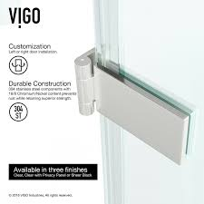 24 Frameless Shower Door Vigo Soho 24 X 70 Hinged Frameless Shower Door Reviews Wayfair