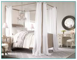 4 poster canopy bed curtains