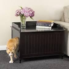 litter box side table modern cat designs mox tower litter box reviews wayfair