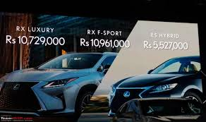 starting price of lexus in india lexus the indian challenge edit launched range starts from rs
