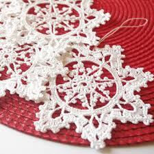 crochet snowflake hanging ornament winter decorations crochet