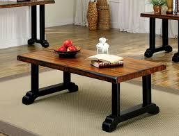 Oak Sofa Table by Cirta Transitional Tobacco Oak Black Sofa Table