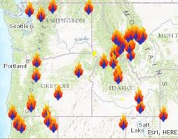 a map of oregon fires does smoky air in idaho we could miss the eclipse idaho