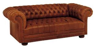 Chesterfield Tufted Leather Sofa Chesterfield Leather Sofa With Tufted Bench Seat And Nail Trim