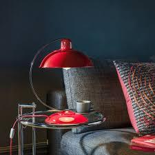 franklin bureau desk lamp in traffic red